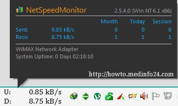 Net Speed Monitor Displays Your Internet Speed In Windows Taskbar