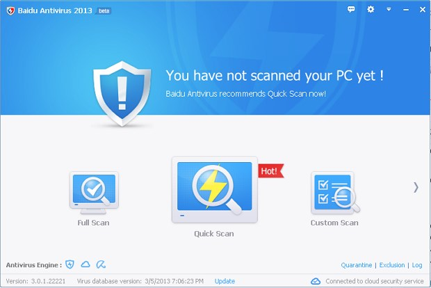 Download and Protect Your PC by Baidu Antivirus 2013 Free