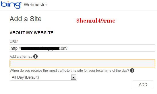 Add Website to Bing