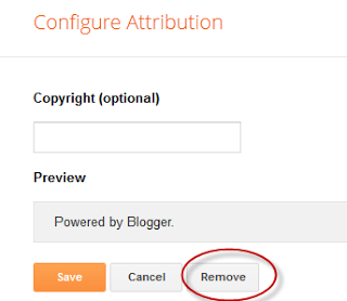 How To Remove Blogger Attribution Gadget