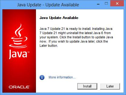 Direct Download Java 7 Update 21 Offline