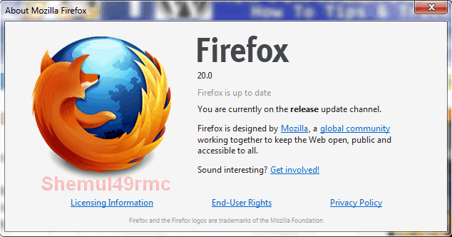 Download Link for Mozilla Firefox 20