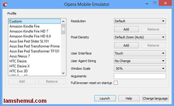 Download Opera Emulator