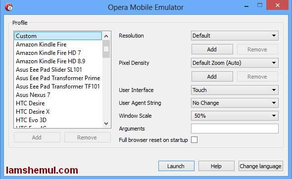 Download Opera Emulator