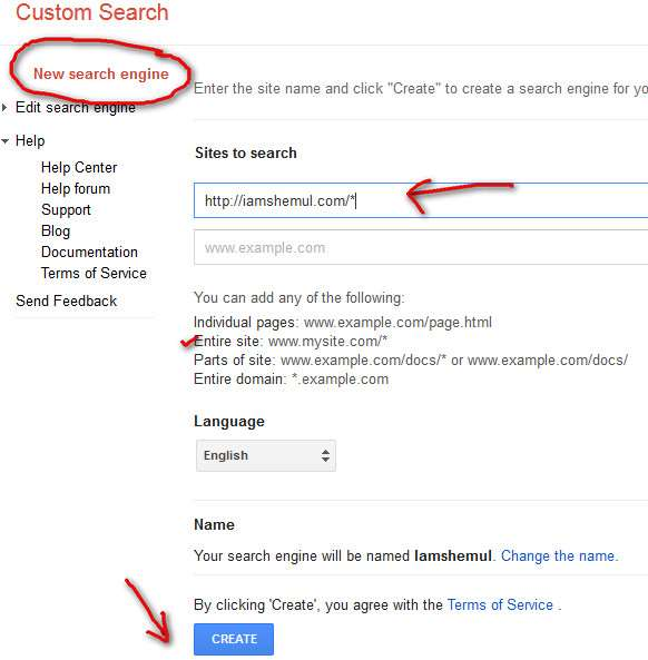 Make Google Custom Search Engine for Your Own Website or Blog