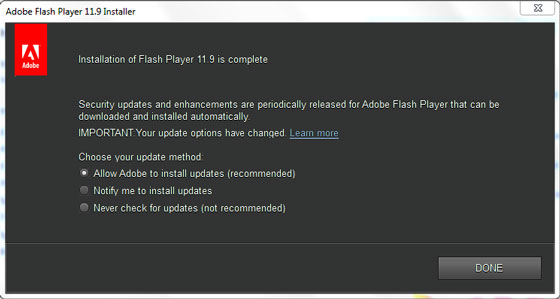 Adobe Flash Player 11.9 and AIR 3.9 Full Offline Download