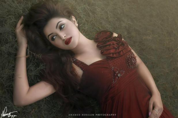 pori moni red dress