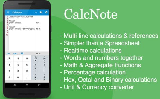 Download CalcNote Best Simple Calculator App for Android